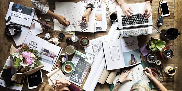 Equipe projet sur bureau commun
